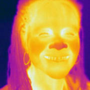 Thermogram Of A Woman Poster