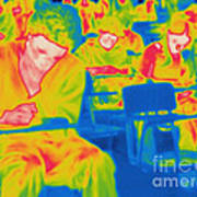 Thermogram Of Students In A Lecture Poster