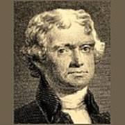Thomas Jefferson In Sepia Poster