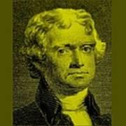 Thomas Jefferson In Yellow Poster
