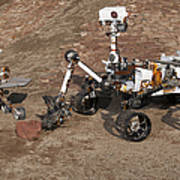 Three Generations Of Mars Rovers Poster