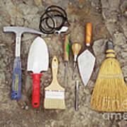 Tools Used To Excavate Dinosaur Fossils Poster