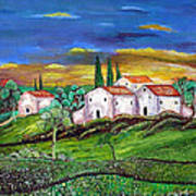 Tuscany Poster by Kostas Dendrinos
