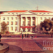 Uc Berkeley . Sproul Hall . Sproul Plaza . Occupy Uc Berkeley . 7d9994 Poster by Wingsdomain Art and Photography