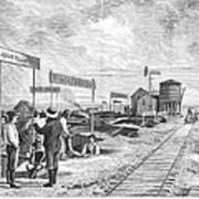 Underground Village, 1874 Poster