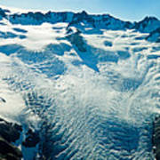 Upper Level Of Fox Glacier In New Zealand Poster