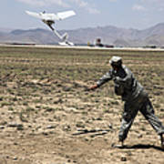 U.s. Army Soldier Launches An Rq-11 Poster
