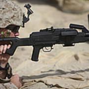 U.s. Marine Prepares To Fire A Pk Poster