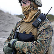 U.s. Marine Provides Security Poster