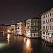 Venice By Night Poster by Joana Kruse