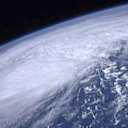 View From Space Of Hurricane Irene Poster