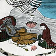 Vishnu And Lakshmi Poster