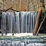 Waterfalls At Old Erie Canal Locks Poster