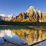 Waterfowl Lakes And Mount Chephren Poster