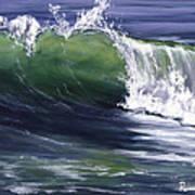 Wave 8 Poster by Lisa Reinhardt