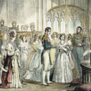 Wedding Of Queen Victoria Poster