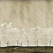 Windmills In A Row Poster