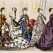 Womens Fashions From Godeys Ladys Book Poster by Everett
