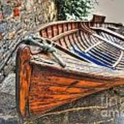 Wood Boat Poster