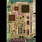 X-ray Of Sound Card Poster by D. Roberts