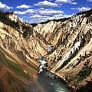 Yellowstone River Below Lower Falls  Poster