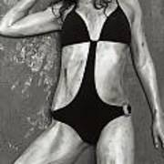 Young Woman With Rope Bondage Standing At A Window Poster