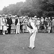 Silent Film Still: Golf Poster