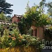 Gardens In Carmel Monastery Poster