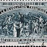old French postage stamp Poster