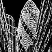 The Gherkin London Poster