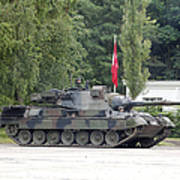 The Leopard 1a5 Of The Belgian Army Poster