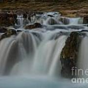 Waterfall Iceland Poster