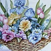 1119 B Flower Basket Poster