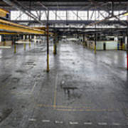An Empty Industrial Building In Los Poster