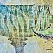 Shadow Of Wine Glass Poster