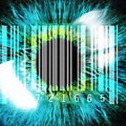 Biometric Eye Scan Poster