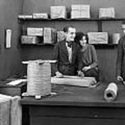 Silent Film Still: Offices Poster