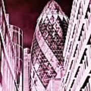 The Gherkin London Poster