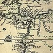 1698 W. Dampier Pirate Naturalist Map Poster by Paul D Stewart