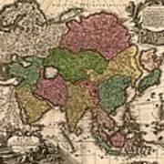 1724 Map Of Asia And Islands Poster