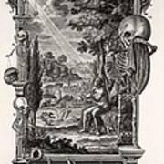 1731 Johann Scheuchzer Creation Of Man Poster