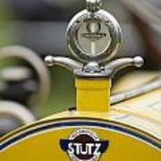 1914 Stutz Series E Bearcat Hood Ornament Poster