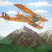 1917 Curtis Jenny Jn4 Used By The Army Air Corps Poster by Mickael Bruce