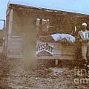 1920s Sepia Farm Stand Poster by Debbie Wassmann