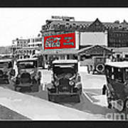 1924 Vintage Automobiles Parked At Atlantic City Poster