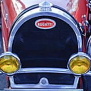 1927 Bugatti Replica Grille Headlights Poster