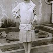 1927 Suit With A Mid-knee Pleated Skirt Poster
