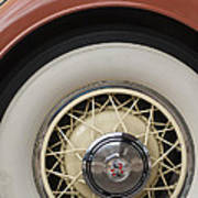 1931 Cadillac Roadster Wheel Poster
