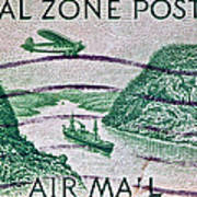 1931 Canal Zone Stamp Poster