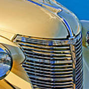 1933 Chevrolet Grille And Headlights Poster